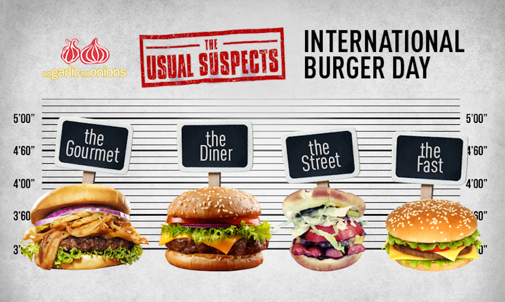 NoGarlicNoOnions-International Burger Day-2014