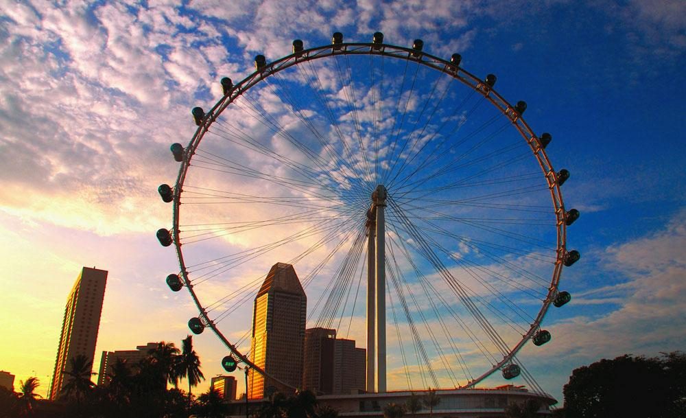 singapore-flyer-sunset